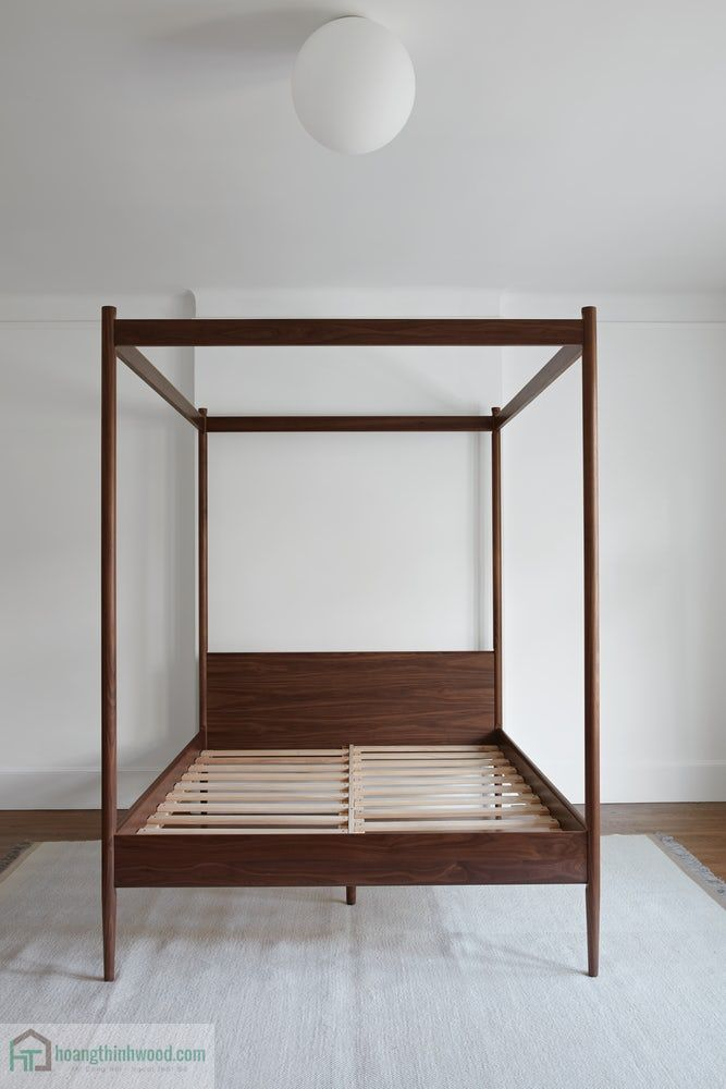 giường ngủ gỗ walnut