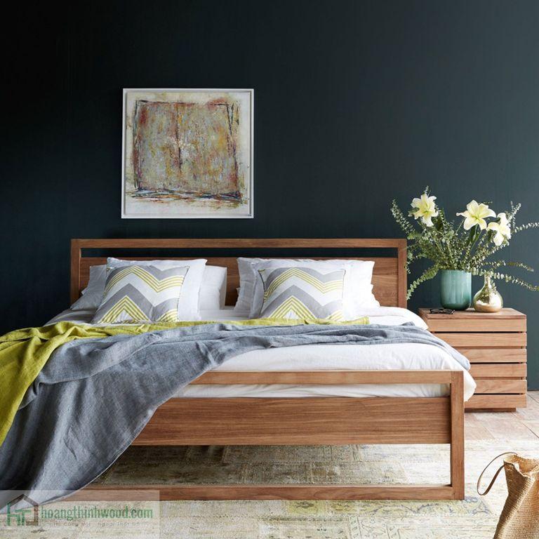 giường gỗ teak tự nhiên