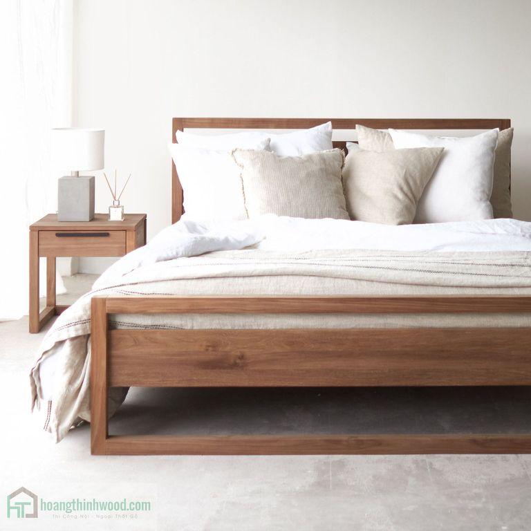 giường ngủ gỗ 01