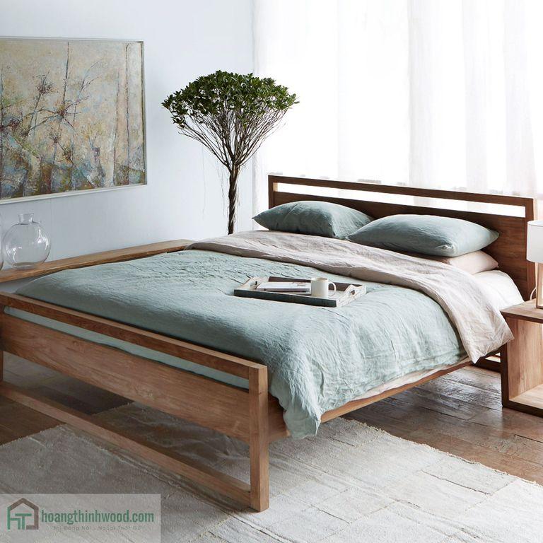 giường ngủ gỗ teak đẹp