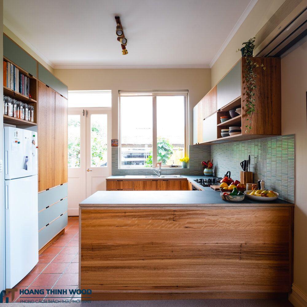 phòng bếp nhà cấp 4 hiện đại