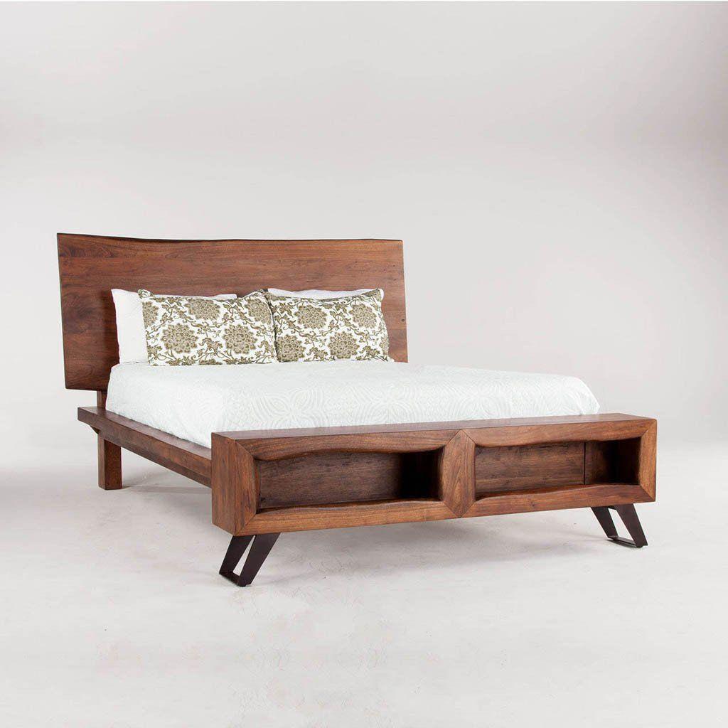 Giường ngủ gỗ tự nhiên óc chó